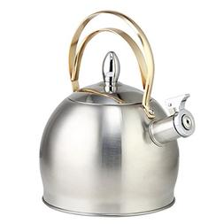 Riwendell Stainless Steel Whistling Tea Kettle 3.2-Quart Sto