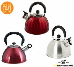 Coffee 91408.02 Carterton 1.5 Quart Stainless Steel Whistling Tea Kettle Mr Silver Gibson Overseas Inc.