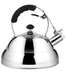 Rorence Stainless Steel Whistling Tea Kettle for Stovetop wi
