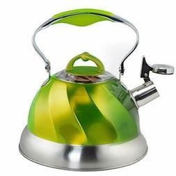 Riwendell Stainless Steel Whistling Tea Kettle Stove Top Ket