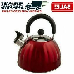 Stainless Steel Whistling Tea Kettle Stovetop Teapot Water B