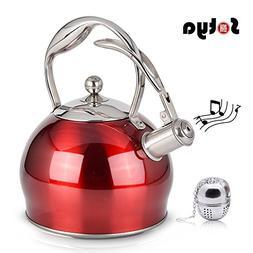 Best Stainless Steel Whistling Teakettle Tea Pot Kettle Stov