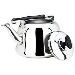 AMFOCUS Stainless Steel Whistling Teakettle, Stove Top Tea P