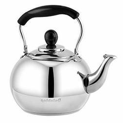 Stove Top Whistling Tea Kettle 2.5 Quart Classic Teapot Appe