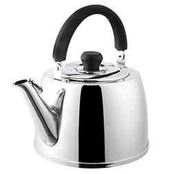 AMFOCUS Stovetop Stainless Steel Whistling Brew Kettle for B