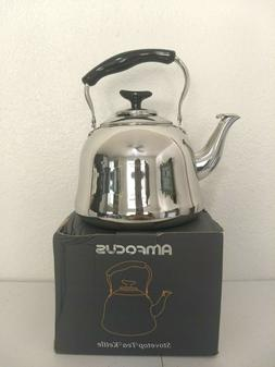 Amfocus Stove top Tea Kettle Stainless Steel  2.0 L Whistles