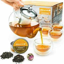 Stovetop Tea Kettle Teapot Infuser - Glass Pot Set Es With B