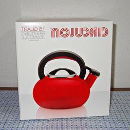 Circulon® 1.5-qt. Sunrise Red Teakettle