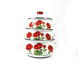 Uniware Super Quality Premium Enamel Cookware Set 6 Pieces S