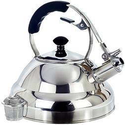 Surgical Stainless Steel Whistling Tea Kettle, 2.75 Quart St