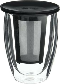 Bodum Tea For One Double 0.35-Liter Wall Glass Tea Strainer,