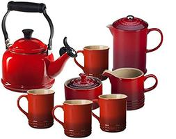 Le Creuset Tea & Coffee Set Cerise
