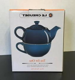 Le Creuset Tea For One Fennel Green Teapot and Cup Set 10 o