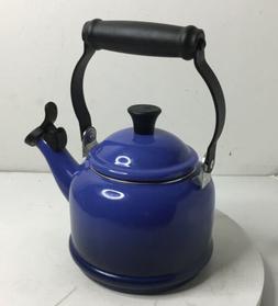 Le Creuset Tea Kettle  1.25 Quart Enamel Stainless Steel Whi