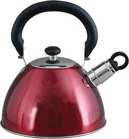 Tea Kettle 2.1 Qt Stainless Steel Whistling Teapot Hot Water