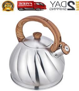 Tea Kettle 2.1L Whistling High-grade Stainless Steel Stove T