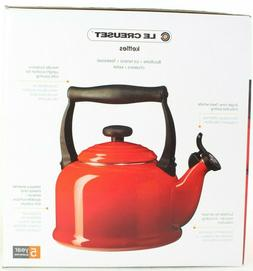 Le Creuset Tea Kettle 2.2qt Enameled Choose Color Chili Red