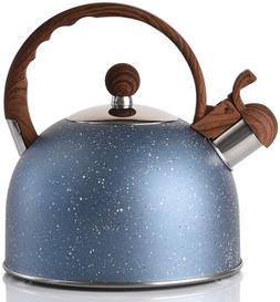 Tea Kettle - VONIKI 2.5 Quart Tea Kettles Stovetop Whistling