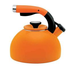 Circulon Tea Kettle 2-Quart Morning Bird, Mandarin Orange -