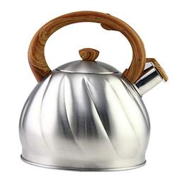 Riwendell Tea Kettle 3.2 Quart Whistling Stainless Steel Sto