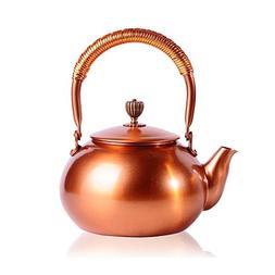 Tea Kettle CHANMOL 50 Ounce BPA Free Red Copper Tea Pot Stov