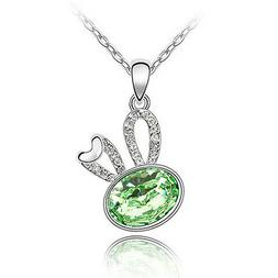 Tea Kettle Crystal Pendant Necklace for Birthday Mothers Day