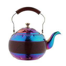 OMGard Tea Kettle with Infuser Loose Leaf Rainbow Teapot 2 L