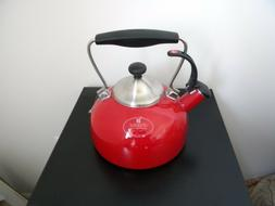 Chantal Tea Kettle Red Color 1.8qt
