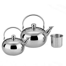 Tea Kettle Stainless Steel Strainer Teapot For Stove Top Fas