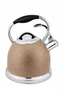 HausRoland Tea Kettle Stainless Steel Whistling 3.2-Quart St