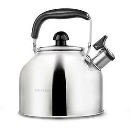 Tea Kettle Stove Top Boiling Whistling Teakettle Coffee Teap