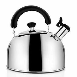 Tea Kettle for Stovetop Whistling Tea Pot Stainless Steel Te
