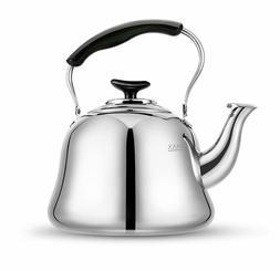 AMFOCUS Tea Kettle Stovetop Whistling Teakettle Teapot,Stain