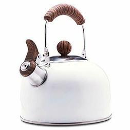 ROCKURWOK Tea Kettle, Stovetop Whistling Teapot, Stainless S