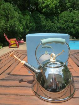 Tea Kettle-Teapot Michael Graves Stainless Steel Trumpet Whi