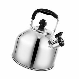 Whistling Tea Kettle Stainless Steel Teapot for Stove Top -