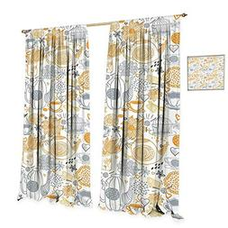 tea party patterned drape