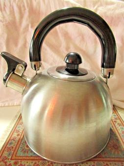 COPCO Tea Pot / Kettle - 1.3 Quarts, Brushed Stainless Steel