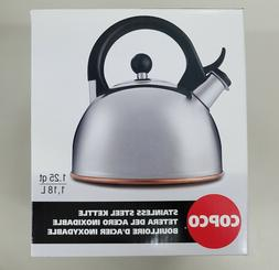 Copco Tea Pot Kettle Teakettle polished Steel Stainless