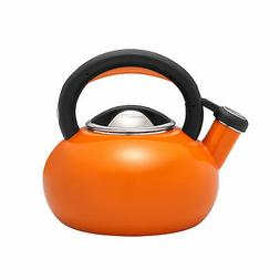 teakettles 1 5 quart sunrise teakettle orange