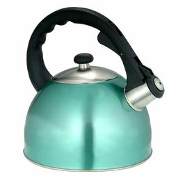 Teal 2.8 Quart Teapot Whistling Tea Kettle Stainless Steel S