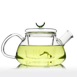 Teapot with Infuser  Loose Fruit Flower Hibiscus Tea Straine