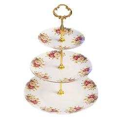 YI HOME- Coffee Set White Ceramic English Rose Teapot Househ
