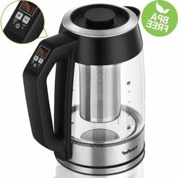 Comfee Temperature Control Glass Electric Tea Kettle with Te