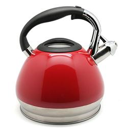 Creative Home Triumph Stainless Steel Whistling Tea Kettle,