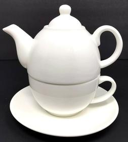 Tupperware TupperLiving Fine China Tea for One Teapot Cup +