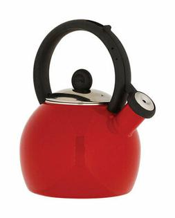 Copco  Vienna  Red  Classic Whistle  Stainless Steel  1-1/2