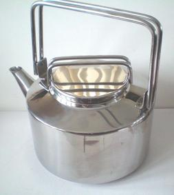 Vintage 2 Quart Stainless Steel Tea Kettle In Box Progressiv