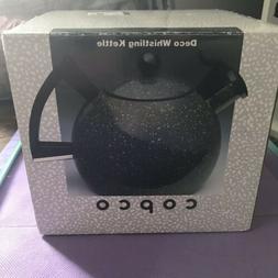 Vintage COPCO Deco Whistling Tea Kettle Teapot Granite-Sam L