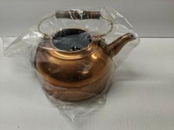 Vintage Paul Revere Solid Copper Tea Kettle Mint In Box 2 Qt